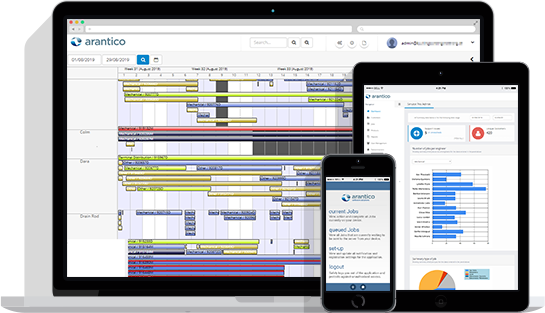 Arantico job scheduling and real time field service management software